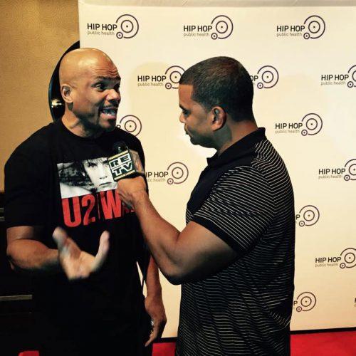 Man Interviewing Guest